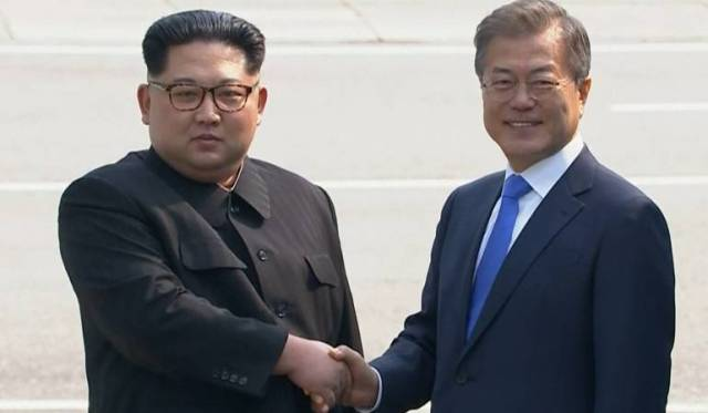 Resultado de imagen para reunion entre corea del norte y corea del sur