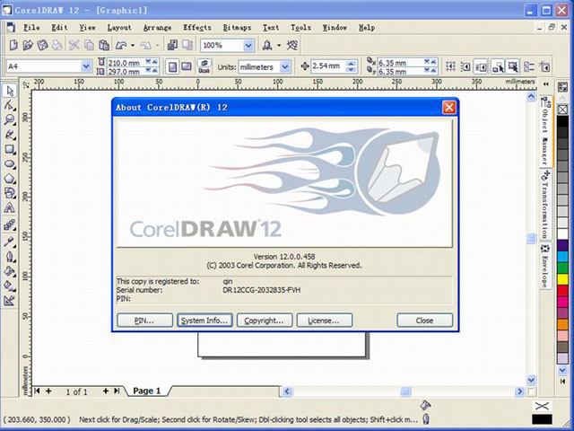corel draw 12 full version free download with serial key