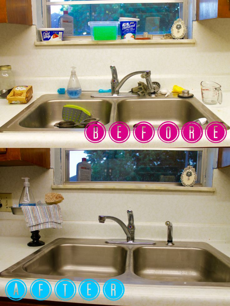 DIY Kitchen Sink Organizer