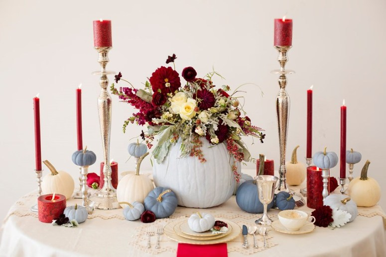 fall wedding table