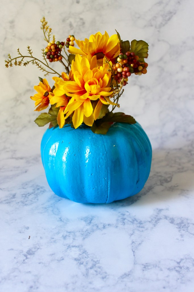 colorful fall centerpiece