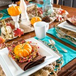 colorful fall table
