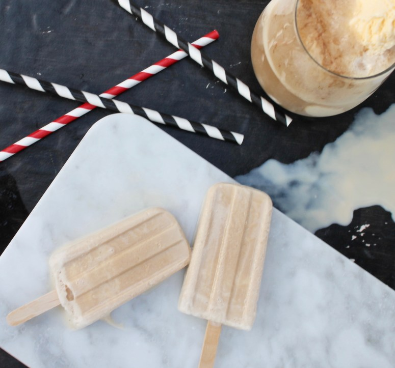 root beer float popsicles braums oklahoma marble chalkboard slate cute straws party popsicles summer