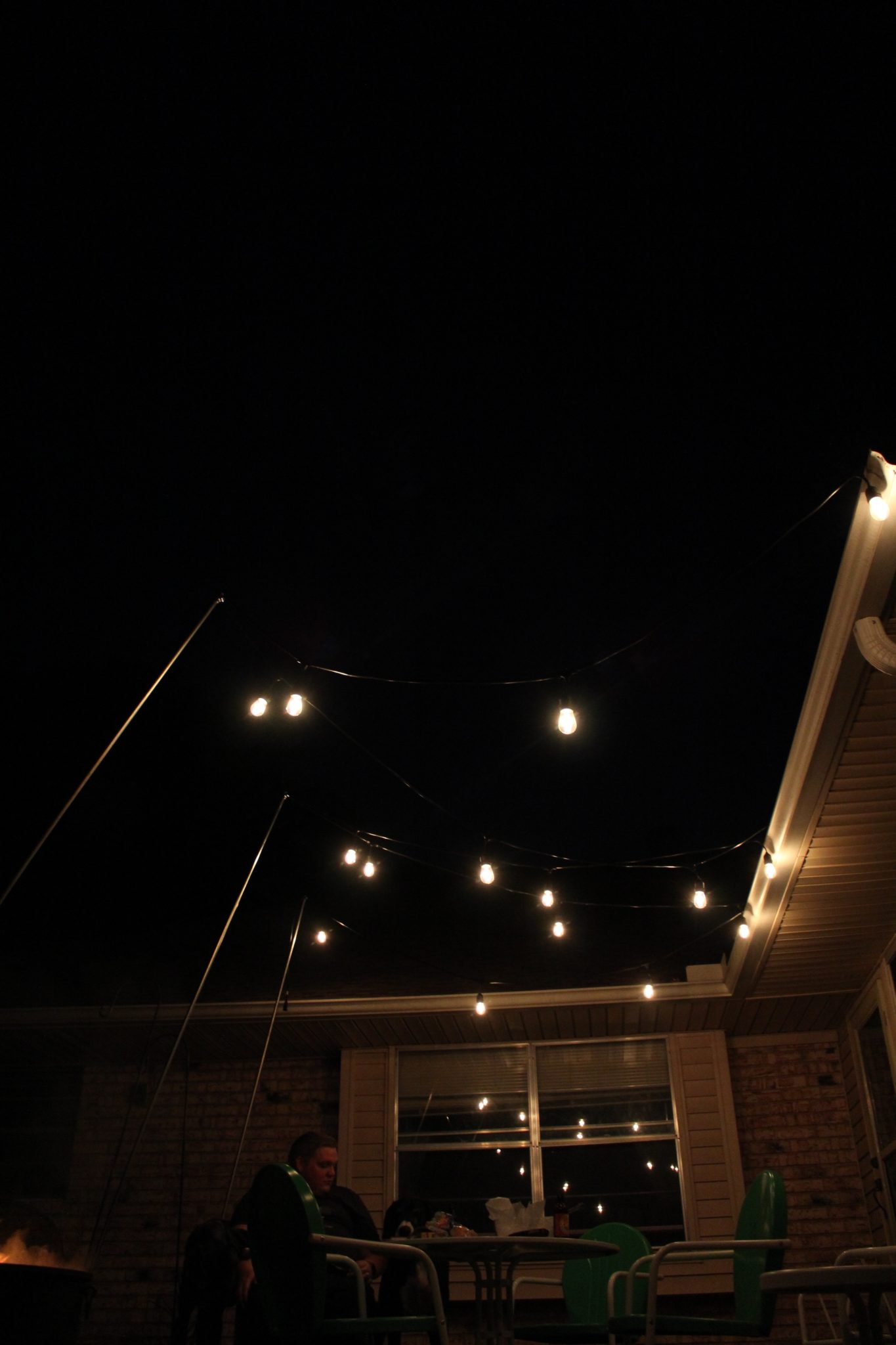 Outdoor Lighting How to Hang Patio Lights The Easy Way