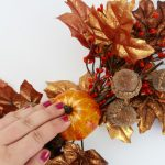 Fall Wreath using an Embroidery Hoop