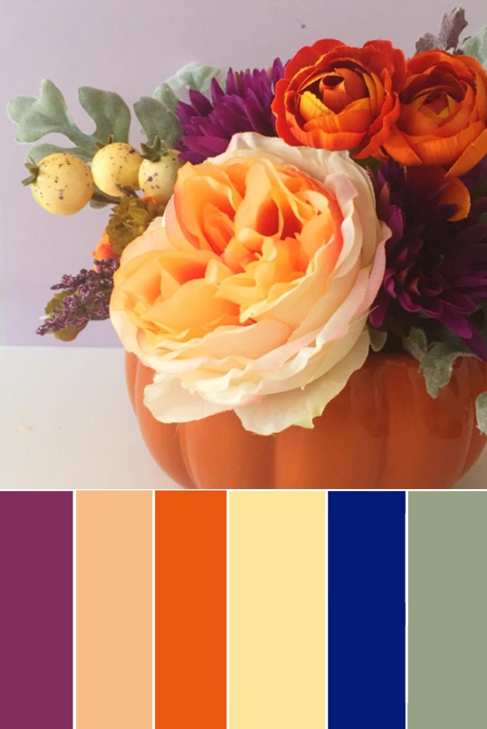 non traditional fall colors peachy muted fall