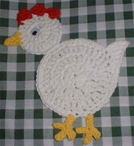 Chicken Coaster Crochet Pattern