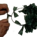 making wreath