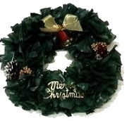 Wreath Made From Recycled Bags