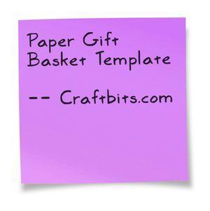 Paper Gift Basket