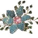 Vintage Beaded Flower