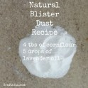 Natural Blister Dust Recipe