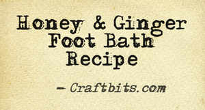 Honey & Ginger Foot bath