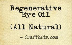 Regenerative Eye Oil