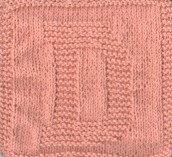 Knitted Letter Cloth – D