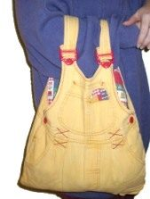 Recycled Overalls Bag