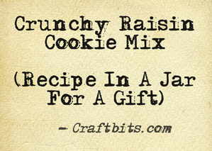 Crunchy Raisin Cookie Mix