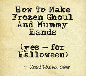 Frozen Ghoul & Mummy Hands
