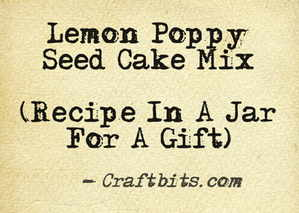 Lemon Poppy Seed Cake Mix
