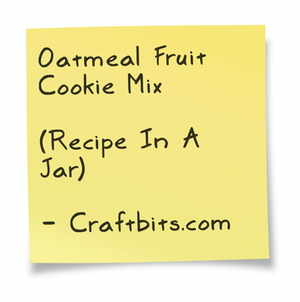 Oatmeal Fruit Cookie Mix