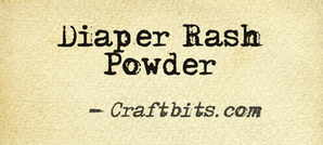 Homemade Diaper Rash Powder