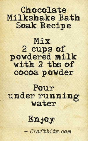 Chocolate Milkshake Bath Soak