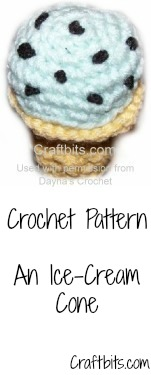 Ice Cream Cone Crochet Pattern