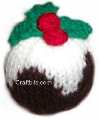 Knitting Pattern For A Christmas Pudding : Knitted Decoration: Plum Pudding   craftbits.com