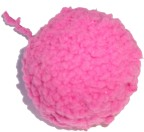 Knitted Powder Puff Ball