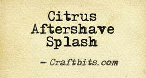 Citrus Aftershave Splash
