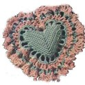 Heart Pillow In Crochet