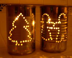 Christmas Tin Can Luminary