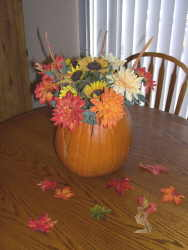 Easy Pumpkin Centerpiece