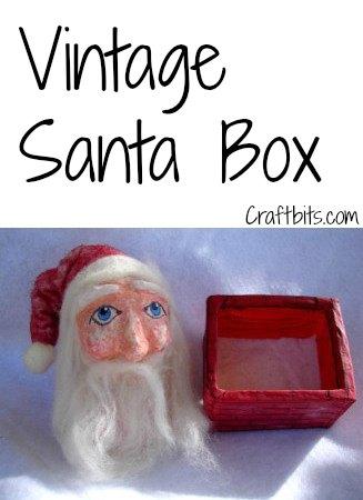 Vintage Santa Box