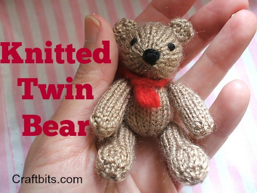 Knitted Twin Bears: Bill And Ben