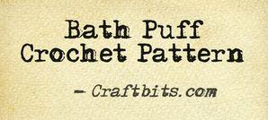 Bath Puff Crochet Pattern