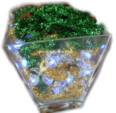 Lighted Christmas Vase