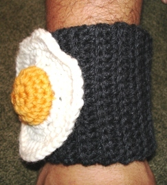 Quirky Crochet Pattern: Egg Wrist Cuffs
