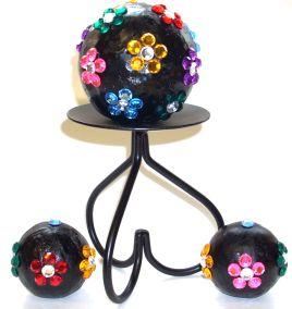 Floral Gem Stone Orbs