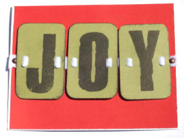 DIY Christmas Card: Joy