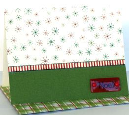 Christmas Card – Trim Patterns Paper