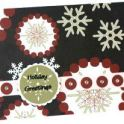 Christmas Card Idea: Snowflake Design