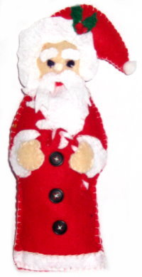 Tree Ornament – Felt Whimsical Santa