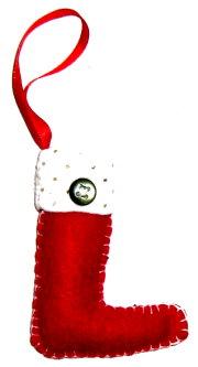 DIY Tree Ornament: Felt Stocking