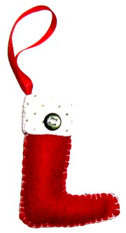 DIY Tree Ornament: Felt Stocking