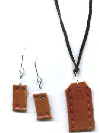 Recycled Belt – Basic Earrings