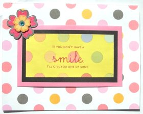 Card Making – I'll Give You My Smile