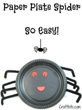 Paper Plate Spider Decoration