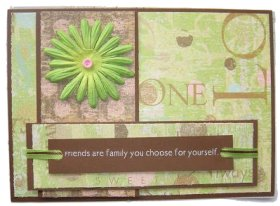 friends are family you choose for youself card. Black Bedroom Furniture Sets. Home Design Ideas