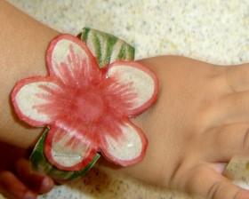 Recycled Cardboard Flower Bracelet